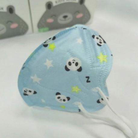 Respirátor detský modrá panda